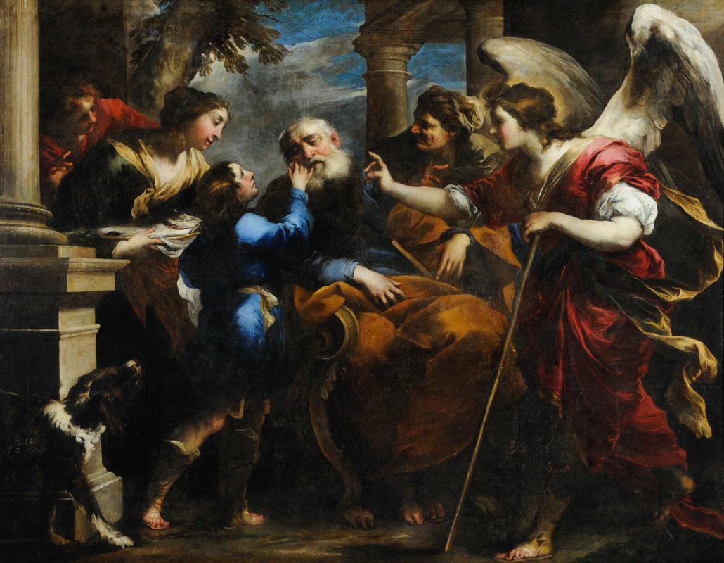 Valerio Castello (1624-59) - Tobias Healing the Blind Tobit