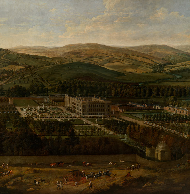 Jan Siberechts - View of Chatsworth from the south-east c.1702