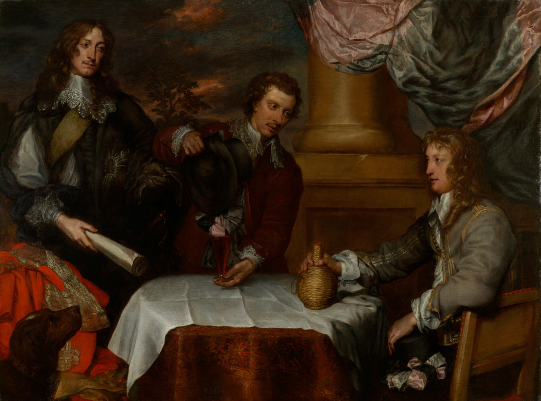 William Dobson - Group Portrait of Prince Rupert, Colonel William Murray and Colonel John Russell c.1645