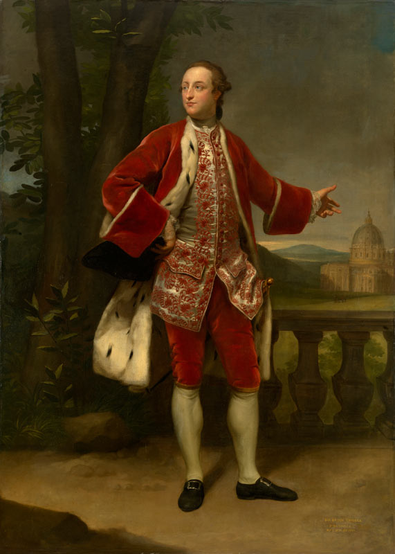 Anton Raphael Mengs - Portrait of Sir Brook Bridges, 3rd Bt (1733-91)